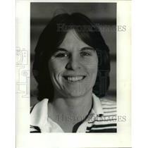 1984 Press Photo Gwenn Hampel R. River volleyball coach - cvb39707