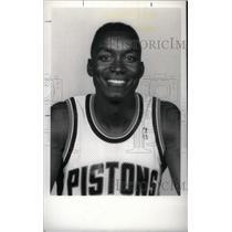 1990 Press Photo Isiah Thomas Detroit Pistons NBA - RRX40087