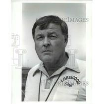 1989 Press Photo Brian Burke, Lakewood High School Football Coach - cvb39598