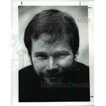 1989 Press Photo Brooklyn high hockey coach Stan Budzick - cvb39715