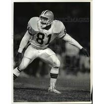 1989 Press Photo Derek Tennell of Cleveland Browns - cvb39656