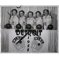 1953 Press Photo Marie Shamlockj Doris Knechtges Ethel - RRW00225