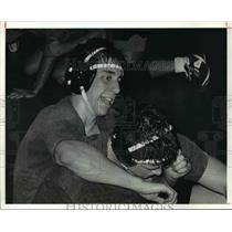 1991 Press Photo Rick Hepp wrestles for St. Edwards High in Ohio.  - cvb42895