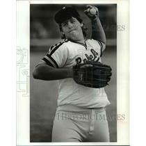 1991 Press Photo: John Adams High School Baseball Player, Bobby Kovachick