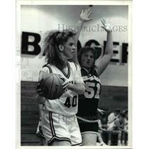 1991 Press Photo: Michelle Christleib of the Bristol lady Panthers (Basketball)