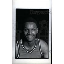 1988 Press Photo Terry Mills Romulus Basketball Player - RRX38879