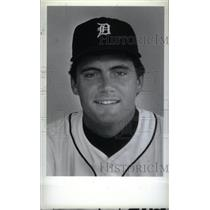 1986 Press Photo Ralph David Engle Detroit Tigers MLB - RRX40045