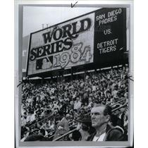 1985 Press Photo 1984 World Series San Diego Padres - RRU63171