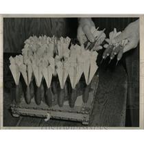 1950 Press Photo Dart Baseball John Pagoria - RRW60413