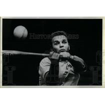 1981 Press Photo Quad City Bombers Baseball Blind Man - RRX15859