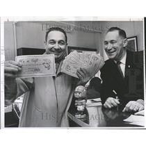 1965 Press Photo Herbert Foster Foods tickets Broncos - RRV81639