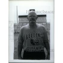 Press Photo Irv Sigluer football coach Belding Redskins - RRX39671