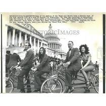 1972 Press Photo Washington Bikecology Bicycle Tour