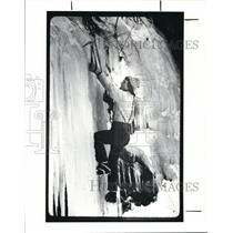 1987 Press Photo Ice Climbing - cvb21072