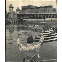 1959 Press Photo YMCA Members In Canoe Race - RRW45251
