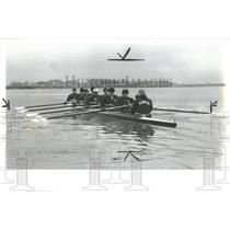 1983 Press Photo Carmel Rowing Wyadotte Boat Dave Brain