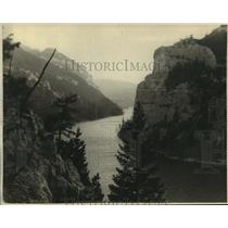 """1934 Press Photo """"The Gates of the Mountains"""" named by Lewis and Clark, Helena"""