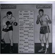 1959 Press Photo Boxers Floyd Patterson & Johansson - RRX42999