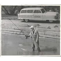1954 Press Photo Jim Haywood Denver Post Roving Fisher