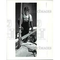 1990 Press Photo Vince Brun - Star Class Sailor - cvb52765