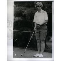 1963 Press Photo Mary Mills American Golfer LPGA tour - RRX35035