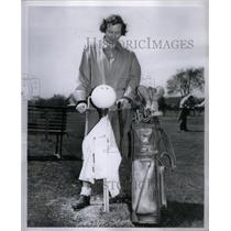 1950 Press Photo Mrs. John Hume Detroit Golfer - RRX50055