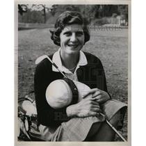 1956 Press Photo Mary Lena Faulk American Chipley Golf - RRX73061