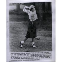 1954 Press Photo Mary Mills Kid Golf Swinging Country - RRX35041