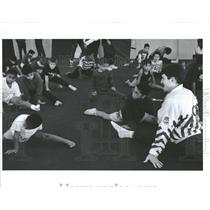 1993 Press Photo Chicago Park District Gymnastics Mich