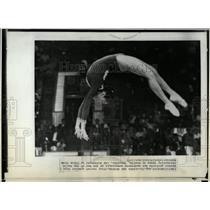 1973 Press Photo Soviet Gymnast Doing Back Somersault - RRW01643