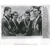1963 Press Photo Pan American Games Gold Medal Swimming - RRW52185