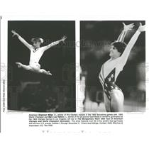 1993 Press Photo Shannon Miller Mary Lou Retton Olympic