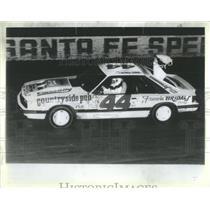 1987 Press Photo Camille Connolly Bridal Shop Car Racer