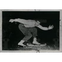 1947 Press Photo Buddy LaLonde , Ice Skater. - RRX43035