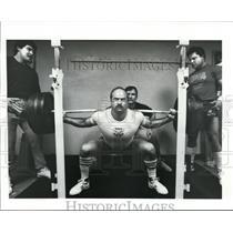 1987 Press Photo Power Lifting Team from Blacks Health World - cvb35545