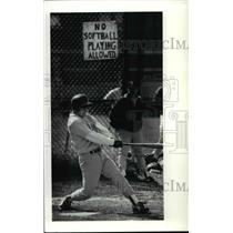 1991 Press Photo St Ignatius Number 9 Gets Double And Two RBI Against East High