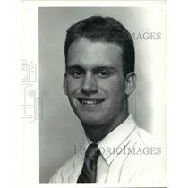 1990 Press Photo Jim Batteiger, Euclid High School Baseball Player - cvb41426