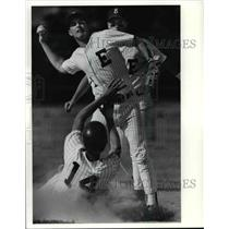 1991 Press Photo Bill Meskunas of North High & T. Hoffman & Guilfoyle of Euclid