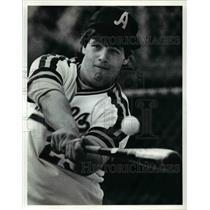 1991 Press Photo Bobby Kovachick of John Adams High School Baseball Team