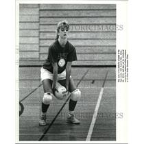 1988 Press Photo Fairview High Girls Volleyball-Dani Peterson in action