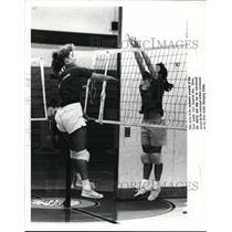1988 Press Photo Fairview High, Girls Volleyball - cvb43432