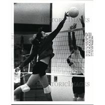 1988 Press Photo Fairview High Girls Volleyball. Mary Nock in Action - cvb43434