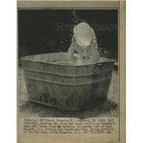 1970 Press Photo Grandma Mrs Bertha Kettelle Glenn Bath - RRW50191