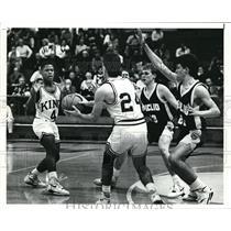 1991 Press Photo Lorain Admiral King High vs. Euclid High basketball game