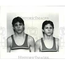 1985 Press Photo: Cardinal High School Wrestlers - cvb44328