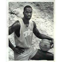 1987 Press Photo Cleveland Cavaliers player Kannard Johnson - cvb44831