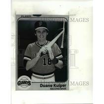 Press Photo San Francisco-Giants, Duane Kuiper, second base, baseball