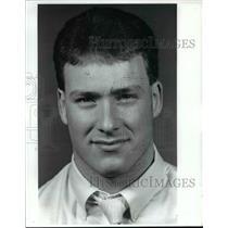 1989 Press Photo Matt Borszcz, of St. Edward Ice Hockey team - cvb46259