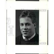 1990 Press Photo Bill Bauchens, Brooklyn High School, Hockey Team 18 years old