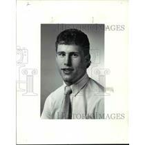 1990 Press Photo St. Edwards Hockey, Rob Ganz - cvb46569